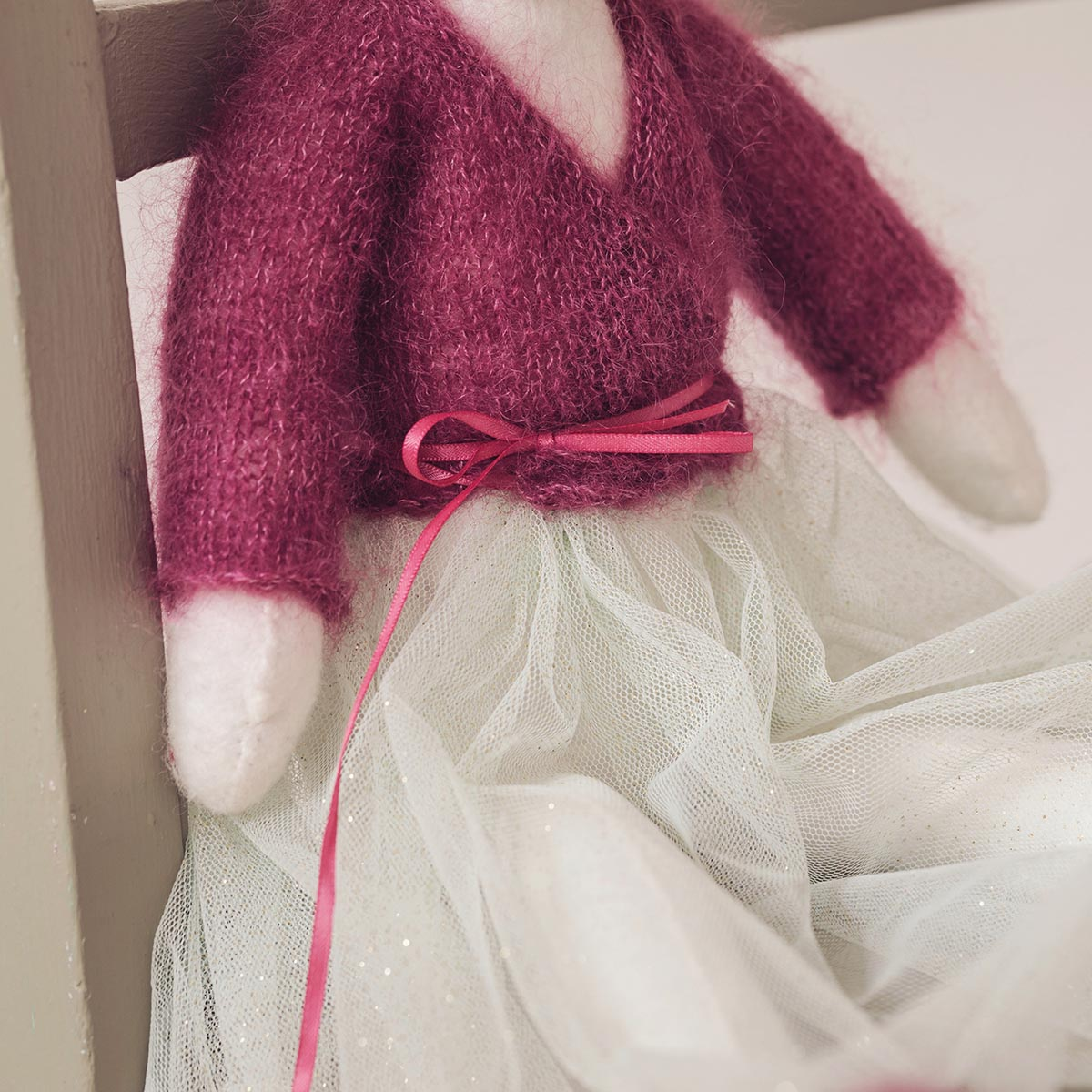Downloadable Pattern Ballet Wrap Cardigan And Ballet Slippers